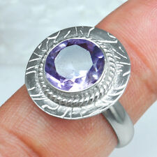 925 Sterling Silver Natural Round Design Amethyst Rings 7.5 US Jewelry svr0921 $