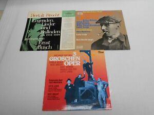 Bertolt Brecht  - Sammlung 3 LPs - Text Bert Brecht