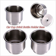 2 X High Quality Stainless Steel Car Boat Drink Bottle Cup Holder Base Universal