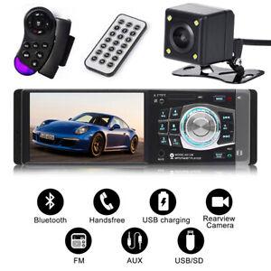 "4.1"" Single Car MP5 Player Radio Stereo Head Unit Bluetooth FM AUX 1 DIN +Camera"