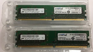 2GB 2x 1GB Crucial PC2-8500 DDR2 1066MHz CL7 CT12864AA1067 Desktop Memory UDIMM