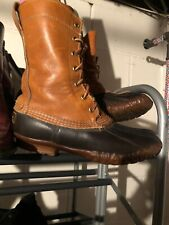 VTG LL Bean Maine Hunting Shoe Duck Rubber Leather Boots US Women's Size L 6
