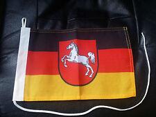 Motorrad Flagge Niedersachsen 30 X 20 cm Strick und Schlaufe