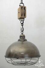 Industrielampe Vintage Shabby Bauhaus Hänge Lampe Loft Retro Decken Leuchte NEU