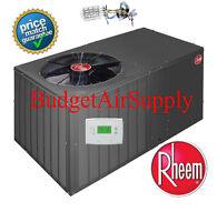 Rheem 5 Ton 14 Seer R410 A/C Package Unit RSPMA060JK000 + tstat and Heat Strip