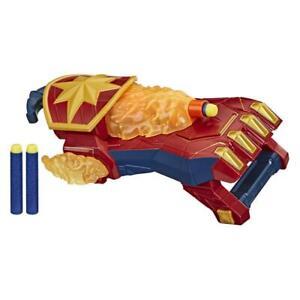 NERF Power Moves Avengers Captain Marvel Photon Blast Gauntlet Dart Launch Toy