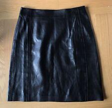 Vintage Kenzo Jungle Soft Lambs Leather Mini A-Line Skirt Short. Size 10-12 (40)