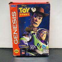 Disney's Toy Story (Sega Genesis) CIB With Cardboard Box & Manual - Tested
