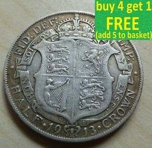 George V Half-Crown Silver Coins Choose your date 1910-1936 Choice