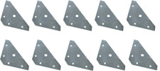 5 Hole Flat Corner Plates 83mm Pack of 10 Bracket DIY Brackets Plate Kitchen