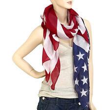 Large USA American Flag Scarf Wrap Soft Lightweight #18