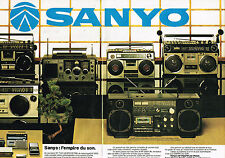 PUBLICITE ADVERTISING 044   1979    SANYO   hi-fi (2  PAGES) tuner ampli chaine