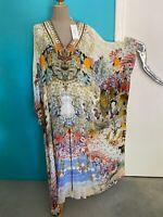 CAMILLA FRANKS BNWT RRP$749 one size Silk kaftan japanese geisha/floral print