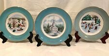 Avon 1973, 1974 and 1975 Christmas Plates Limited Edition by Enoch Wedgewood