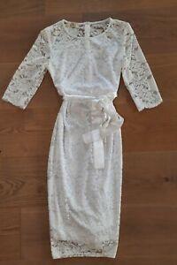 Hochzeitskleid Umstandskleid, Schwangerschaftskleid Gr.S Gr.36 weiß, festlich