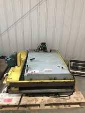 American Lifts Hydraulic Scissors Lift Table 3000lb w/ Versa Roller Conveyor 3Ph