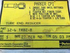 NEW Parker  Brass CPI TUBE END REDUCER # 12-6 TRBZ-B BOX OF 5