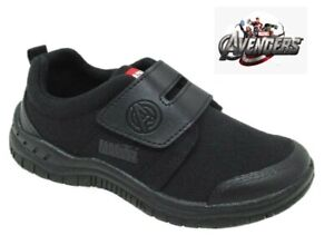 Boys Kids Avengers Smart Casual Touch Strap Back To School Trainers Shoes Size
