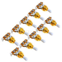 10 Pcs 3 Way Electric Guitar Toggle Switch Guitar Pickup Selector Switch Golden