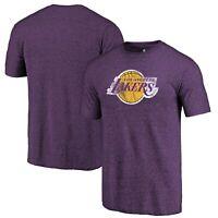 Los Angeles Lakers Fanatics Branded Distressed Logo II Tri-Blend T-Shirt -