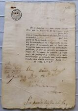 ECUADOR autograph Jose de la Mar president on Peru loan in independence war 1823