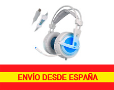 Sades A6 professional Gaming 7.1 Sonido Envolvente for gamers Blanco y Azul