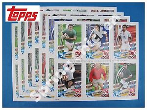 TOPPS RUGBY ATTAX PROMO CARDS 2015 RUGBY WORLD CUP - THE SUN (UK)