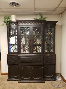 Seven seas collection by Hooker Furniture.  2 piece Buffet and Curio Cabinet