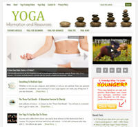 * YOGA TIPS & ADVICE * niche blog website business for sale w/ AUTO CONTENT!