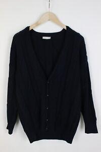 ADIDAS VINTAGE Men's (EU) 50 or ~LARGE* Wool Blend Cardigan Sweater 33146_GS