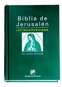 Biblia de Jerusalen Latinoamericana -LETRA GRANDE- Catolica  Español con Uñeros