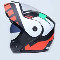 DOT Modular Helmet Flip Up Motorcycle Helmet Full Face Dual Visor Street Bike