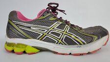 Women's ASICS GT 2170 Grey Pink Yellow Green Running Shoe Size 10