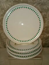 "Vtg WAECHTERSBACH Christmas Tree Salad Dessert Plates 7.5"" Lot of 4 Plates RARE!"