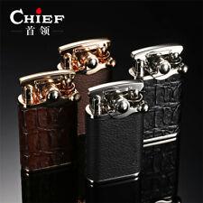 New Chief Black Skin Vintage Cigarette Refillable Lighters Automatic Kick Start
