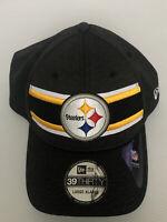 🔥NEW PITTSBURGH STEELERS New Era 39THIRTY SIDELINE NFL Cap Hat FlexFit L/XL