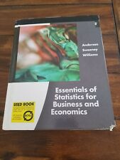 ESSENTIALS of STATISTICS FOR BUSINESS and ECONOMICS by David R. Anderson, Thoma…