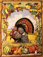 Thanksgiving Quilted Wall Hanging - 40.5 x 22 Inch  Beautiful FREE SHIPPING