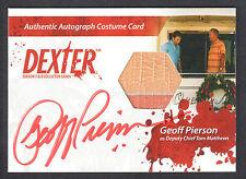 DEXTER SEASON 7 & 8 Breygent AUTOGRAPH COSTUME CARD #CA3 GEOFF PIERSON