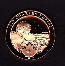 Large Canada 1896 Prime Minister Sir Charles Tapper CNR Medal