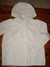 Next beige cream hooded summer jacket girls age 4-5 long sleeve cargo style