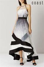 Coast Black/White Alysha Dotted Maxi Dress size 12