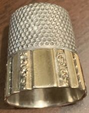 Sterling & 14K Gold, Panel & Scroll, Thimble, Ketchum & McDougal