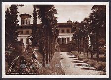 LECCO MERATE 12 VILLA PRINETTI Cartolina FOTOGRAFICA 1940 MA viaggiata 1953