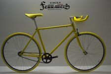 Bici bicicletta Fixed single speed scatto fisso gialla personalizzabile
