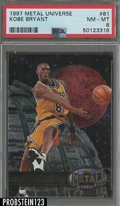 1997 Metal Universe #81 Kobe Bryant Los Angeles Lakers HOF PSA 8 NM-MT