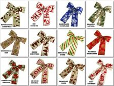 "Pre-made Bow 7""X8"" Holiday Ribbon Bow Choose Design"