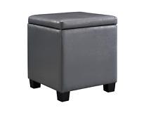 Linon Storage Ottoman – Gray