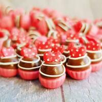 10x Mini Red Heart Cupcake Dollhouse Miniatures Food Bakery Sweet Decor Supply