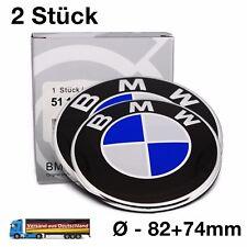 BMW Emblem 82+74mm Logo Zeichen Abdeckung Motorhaube Kofferraum Heckklappe